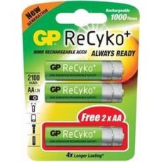 Batterij GP Rechargeable AAA 4+2 gratis