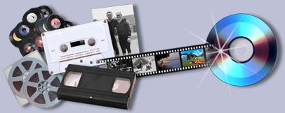 Film, dia en videobanden naar DVD